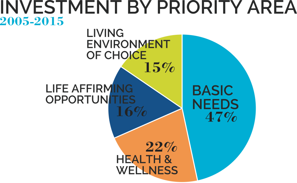 Senior Fund Investment by priority area