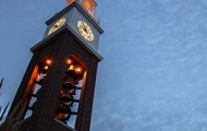 Coxhall Gardens clock tower - sq