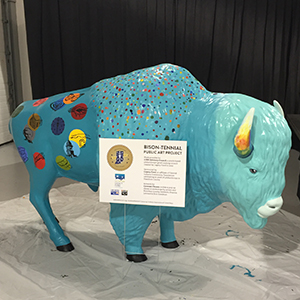 Is that a big, blue bison at the Hamilton County 4-H Fair?
