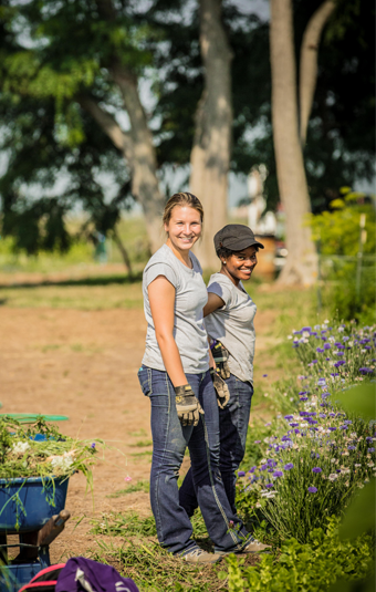 Volunteers at Indy Urban Acres
