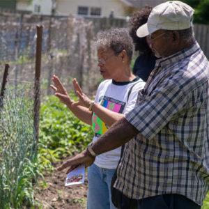Community garden in Riverside neighborhood